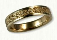 Narrow Avonmore Knot wedding rings